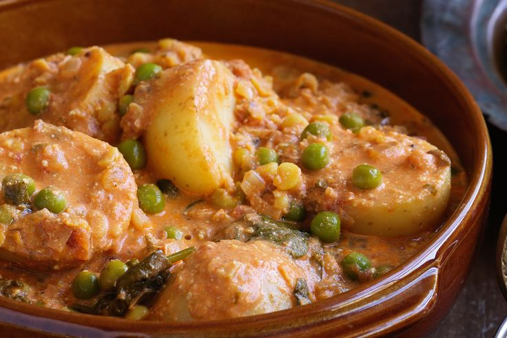 Potato and split pea curry