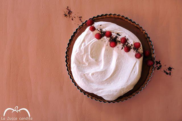 La Zucca candita: Crostata cioccolato, ricotta e lamponi