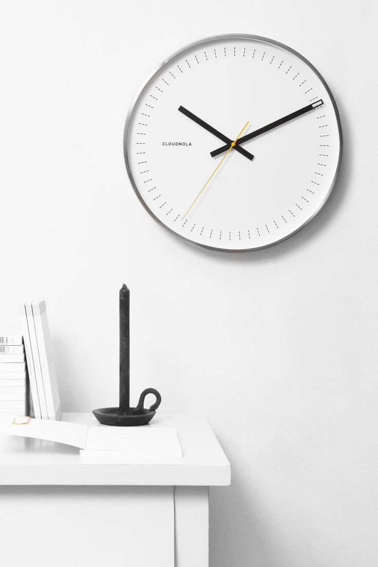 Objective White Clock by Cloudnola | From Cloudnola.me