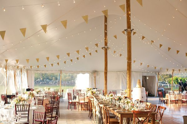 New England Vineyard Wedding  photo by Lens CAP Productions Flowers and tent decor by: Sayles Livingston Design