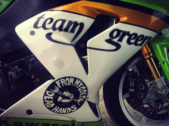 #custom #kawasaki #track bike #race