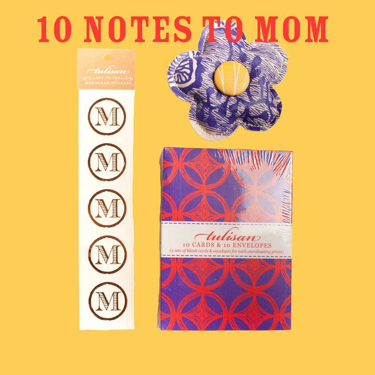 10 Notes to Mom: Personalize your gift to mom with 10 hand written notes about how much you love her!