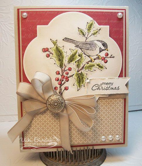 CC449.....Merry Christmas Chickadee