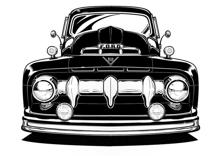 Custom Ford Truck Illustration. Vector!