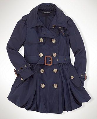 Ralph Lauren Kids Coat, Little Girl Trenchcoat - Kids Girls 2-6X - Macy's