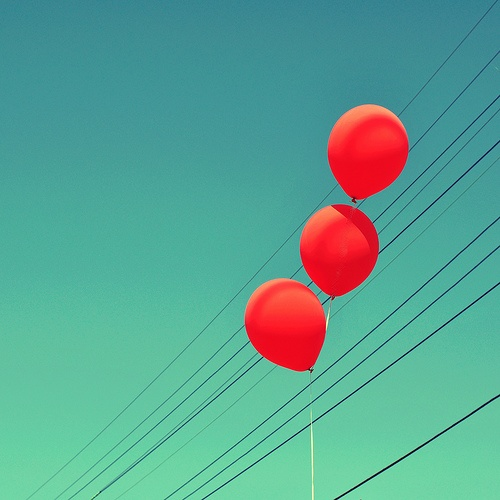 Red Balloons. Ok. So the sky isn't really turquoise. Or is it?