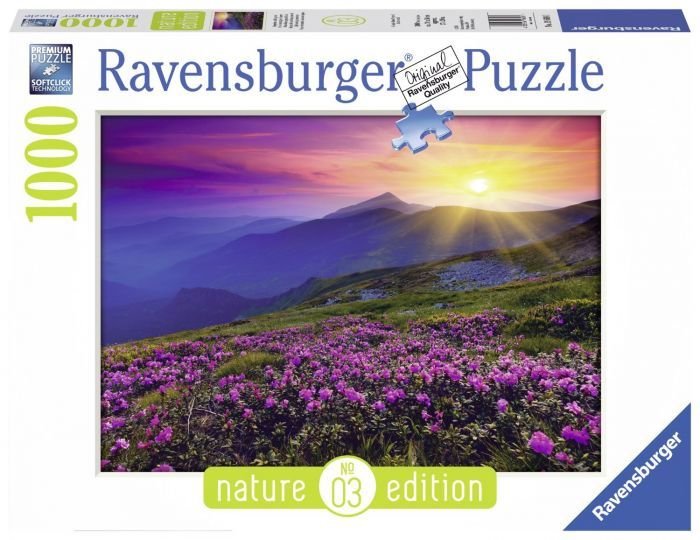 Ravensburger Puzzle 1000pc - Early Morning Mountains