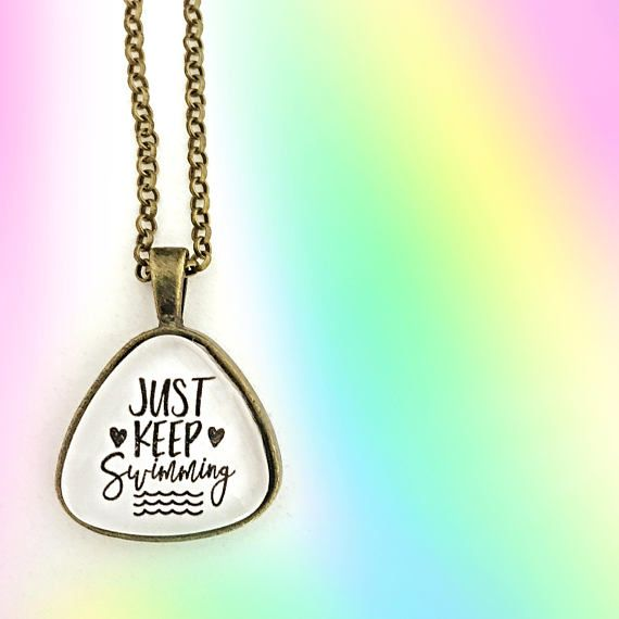 PREORDER Just Keep Swimming Pendant Tray Necklace FUNDRAISER