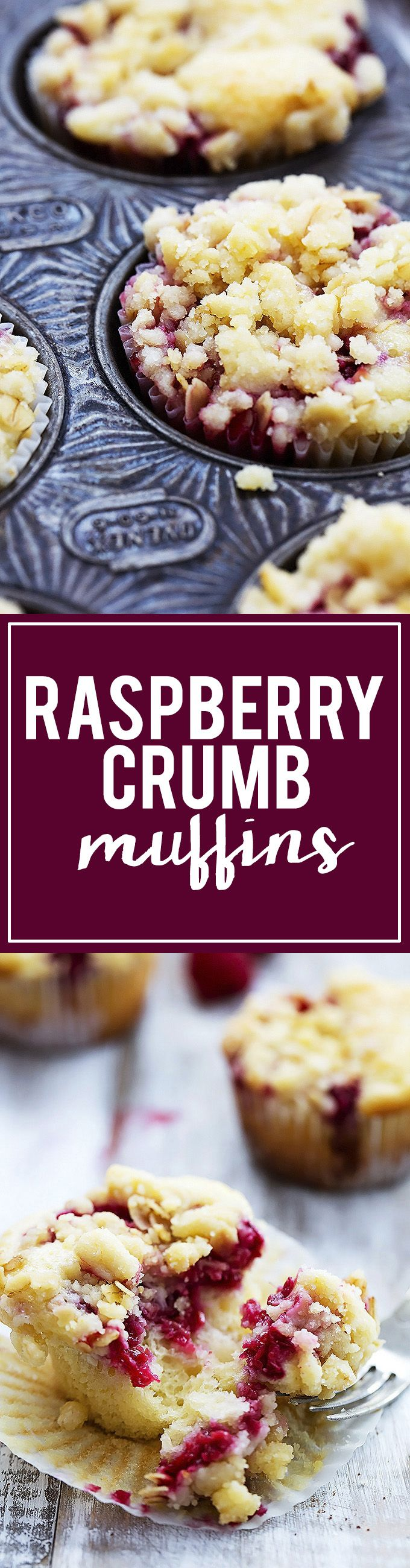Raspberry Crumb Muffins | Creme de la Crumb #TheBeautyAddict
