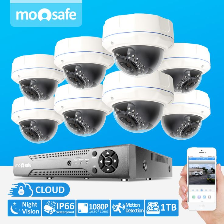 8CH CCTV Kit P2P 1920*1080P 2MP ONVIF 2.0 Waterproof Outdoor IR CUT Night Vision 3TB HDD IP Camera system