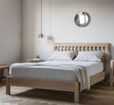 King Size Hudson Living Marlow Solid Oak Bed by Nordic living for that clean and contemporary Nordic look.