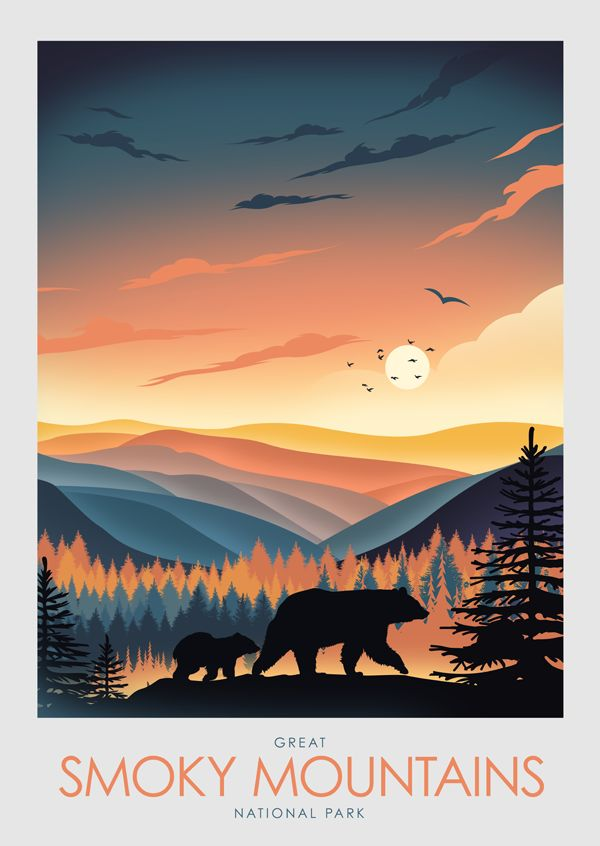 Great Smoky Mountains National Park Poster Print