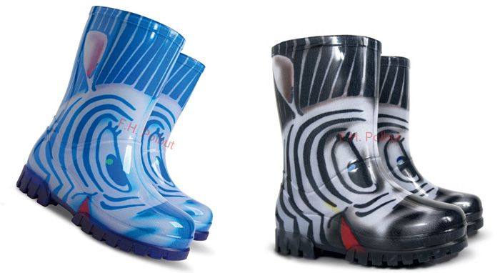 #Kid's #wellington #boots, with #zebra #image, #soft and #waterproof, #great to use in #rainy #days. More #patterns available on ebay.