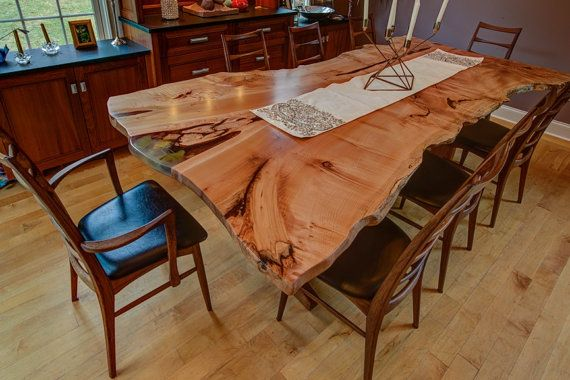 Dining Room Table Live Edge With Custom