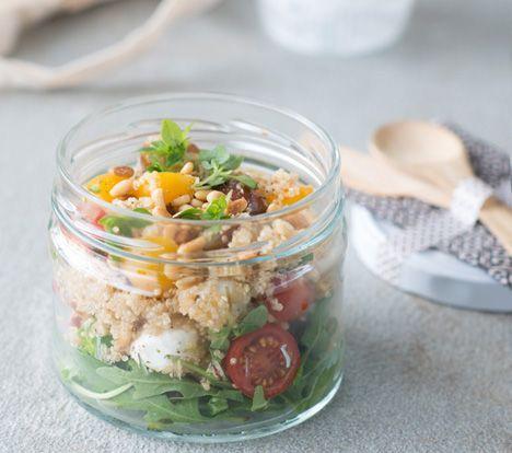 Quinoa caprese http://www.detafelvantine.be/sandra_bekkari/een-gezonde-start TVT-smaakmaker Sandra Bekkari