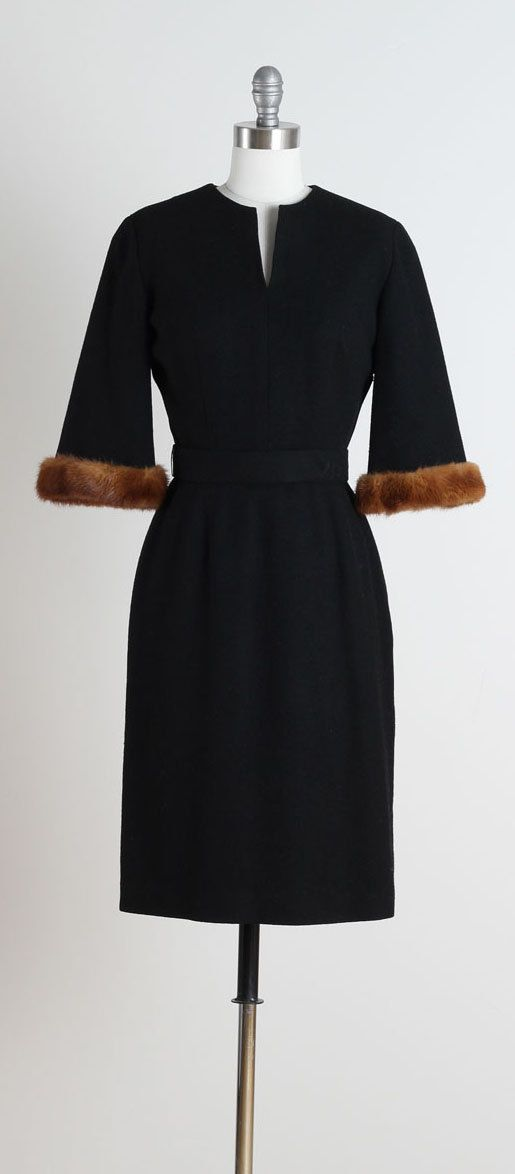 Midnight Mink . vintage 1950s dress . 50s by millstreetvintage