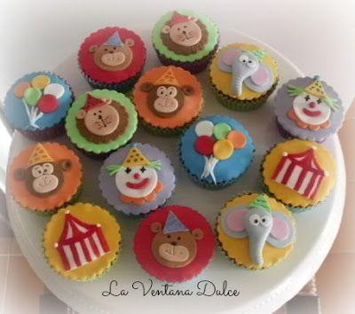 La Ventana Dulce: Cupcakes Circo