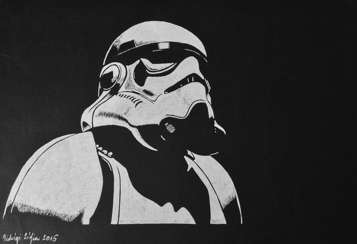 Stormtrooper - White gel pen drawing on black paper #stromtrooper #starwars #starwarsstormtrooper #drawing #blackandwhite #whitegelpen #blackpaperdrawing #minimal #minimalism #lowkey