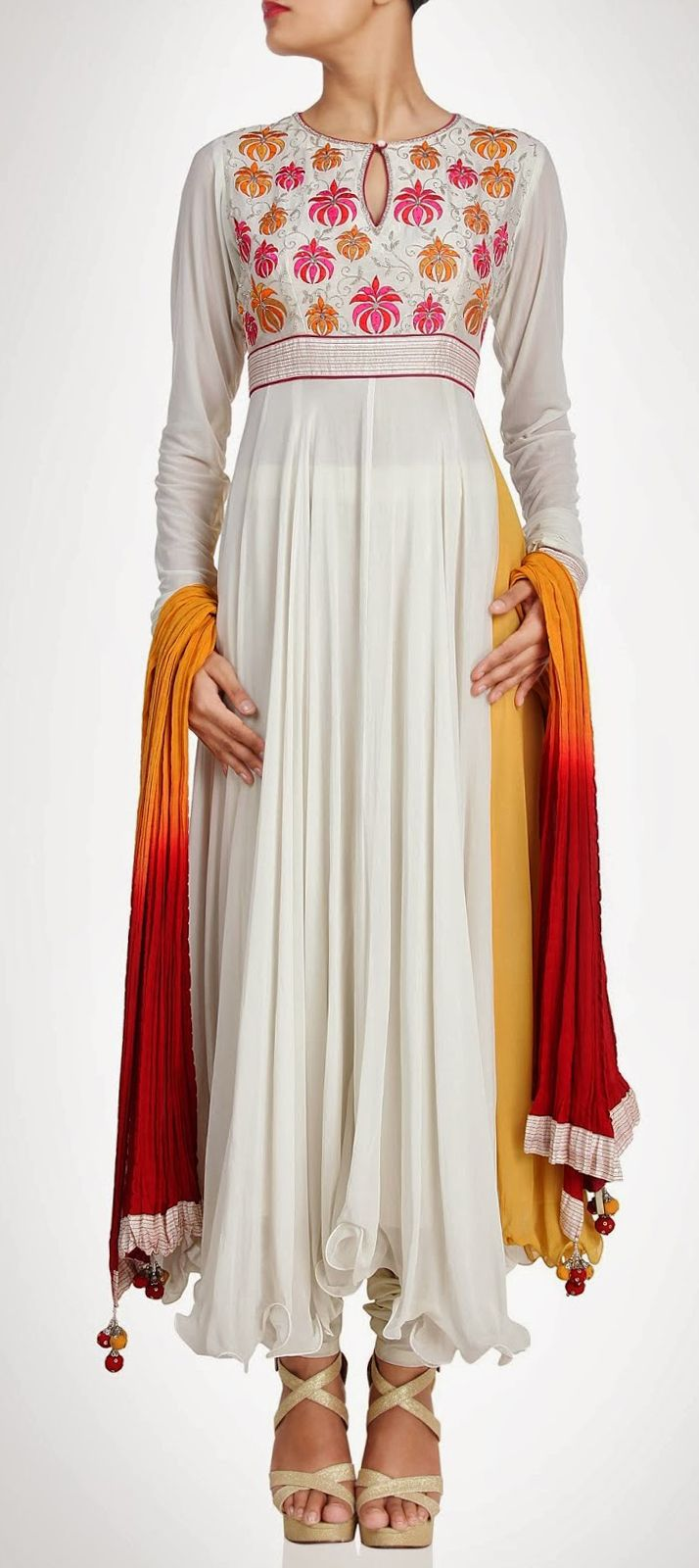 404607: White and Off White color family stitched Party Wear Salwar Kameez.