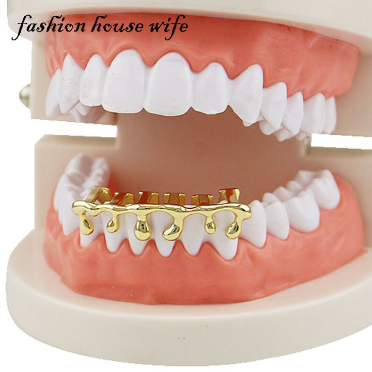 >> Click to Buy << Fashion House Wife Gold Teeth Grillz Hip Hop Teeth Drip Grillz Dental  Custom Fit Tooth Caps Cosplay Jewelry Party LD0108 #Affiliate