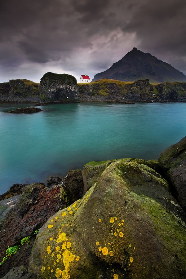 The rugged shoreline of a remote Icelandic village on the Snaefellsnes Peninsula.