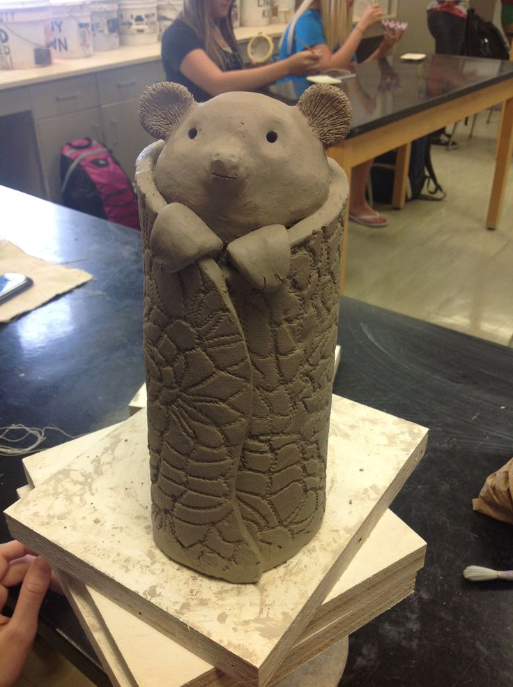 Hand Built Ceramic Work Still Drying Clay Ceramics