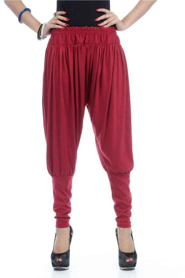 Adam n' eve Maroon Jodhpuri Cotton Salwar @ Rs.399 only