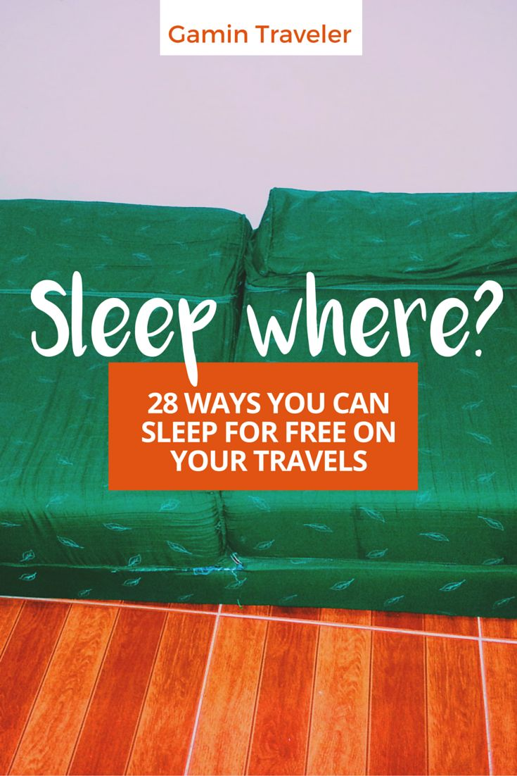 Traveling in a tight budget. Here are surefire ways you can get free accommodation. Read this travel tactical guide: 28 Ways to Sleep Free while Traveling