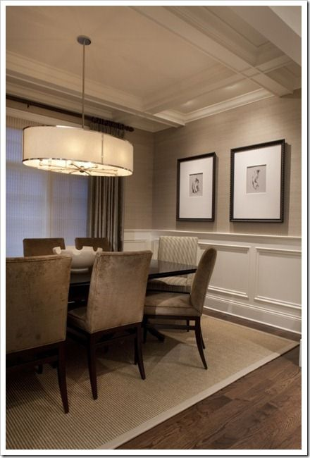 #dining room - light fixture, less monochrome