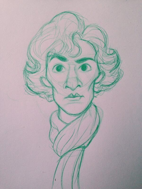 Twitter  @Emma Campbell #sketch_dailies  #Sherlock