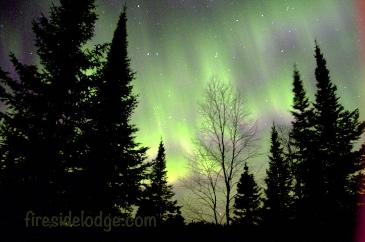 The sky glowed green for St Patrick's Day at www.firesidelodge.com