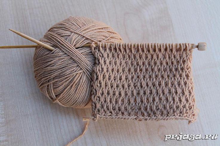 Текстурный узор спицами