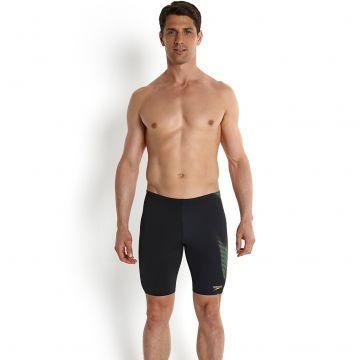 Endurance Plus Erkek Jammer Yüzücü Mayosu - Siyah/Yeşil