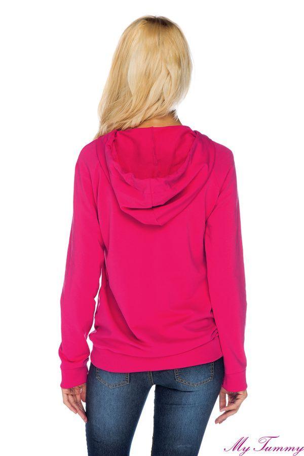 Bluza ciążowa z kapturem Angie różowa