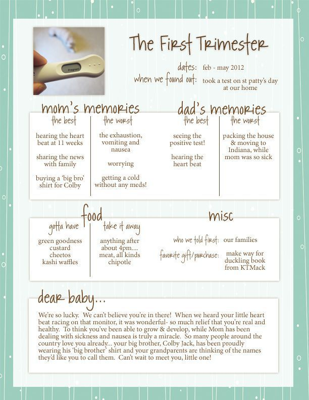 Simple pregnancy journal. Summary of each trimester. #pregnancyjournal #healthypregnancy #samplepregnancyjournal