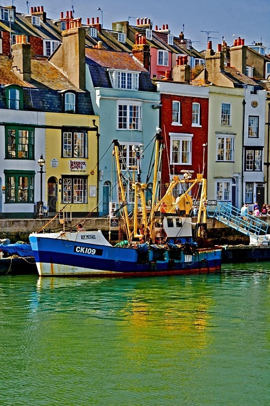 Trawler in Weymouth harbour