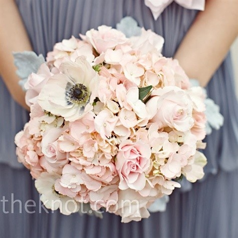 pink and grey wedding colors
