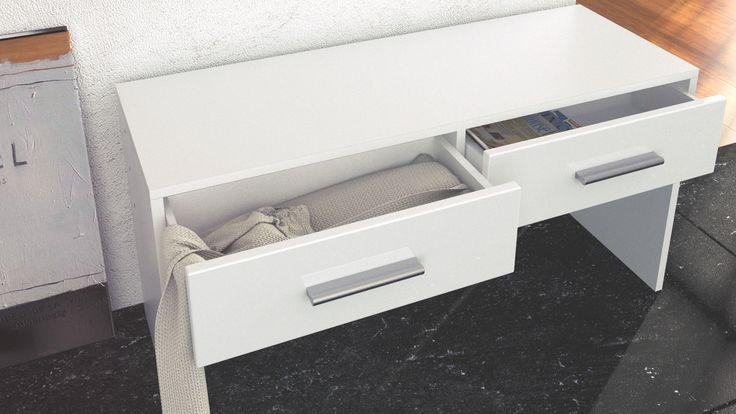 Sitzbank Luna für den Flur mit praktischen Schubkästen  vladon.de