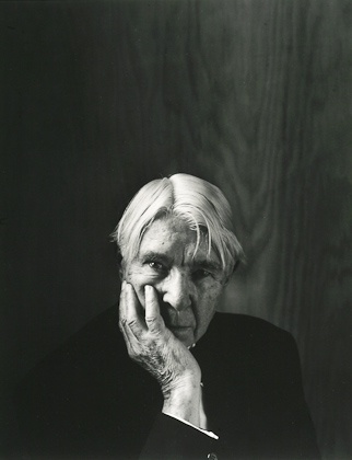 Carl Sandburg was photographed in NYC 1955