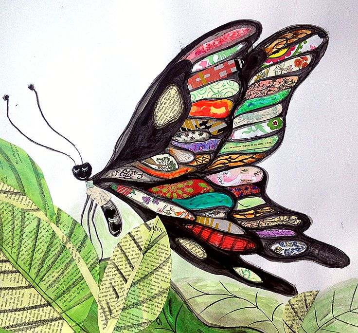 Edie Butterfly: final art. Monotype, indian ink, collage and pencil, by Judy Watson, Annabel Butler, Sarah Kipnis, Jo Roszkowski, Robyn Helton, Kerrie Lay and Juliet D Collins