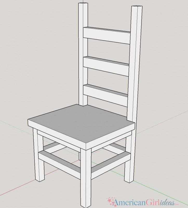 Learn how to make American Girl Kitchen Chair for your dolls! You and your dolls are going to love this kitchen chair! These plans are easy to follow!