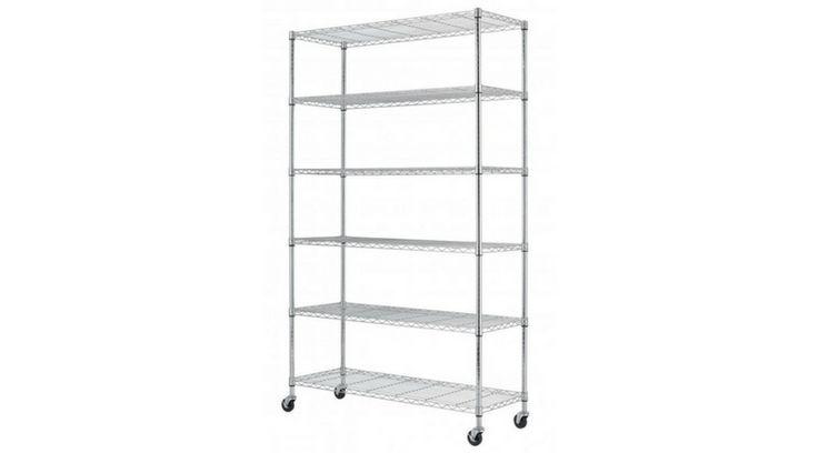 *HOT* 6-Shelf Metal Wire Shelving Rack $54.99 REG $199 Free Shipping! - http://supersavingsman.com/hot-6-shelf-metal-wire-shelving-rack-54-99-reg-199-free-shipping/
