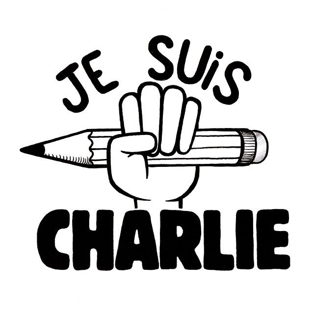 Sad day... #charliehebdo #jesuischarlie #nevergiveup #powertothepencil