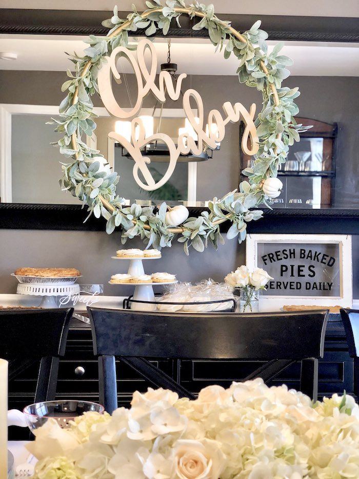 Rustic Elegant Farmhouse Baby Shower  Elegant Baby Shower -3403