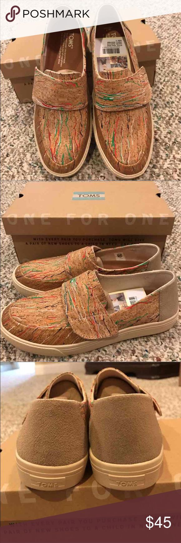 NWT TOMS Altair Multi Color Cork Shoes 7 PRICE FIRM Bundle & save  TOMS Shoes Flats & Loafers