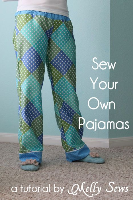 Make a pair of pajama pants that fits you perfectly with this tutorial from Melly Sews
