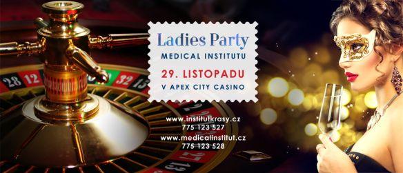 Největší komplexní estetické centrum v Plzeňském kraji Vás srdečně zve na Ladies Party zaměřenou na nejnovější módní trendy z oblasti krásy, sportu, módy a zdravého životního stylu. Vezměte manžela, přítele, maminku, kamarádky a užijte si tuto jedinečnou a oblíbenou akci v kruhu svých blízkých. Těšit se můžete na přednášky našich specialistů a bohatý doprovodný program. Více informací na tel.: 775 123 527 a 775 123 528 www.institutkrasy.cz www.medicalinstitut.cz