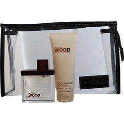 SHE WOOD VELVET FOREST EAU DE PARFUM SPRAY 17 OZ  BODY LOTION 34 OZ  COSMETIC BAG WOMEN *** Find similar fragrance by clicking the image