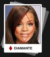 Cara  con forma de Diamante