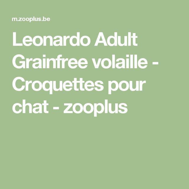 Leonardo Adult Grainfree volaille - Croquettes pour chat - zooplus